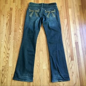 🍂 seven 7 for all mankind flare leg jeans 28